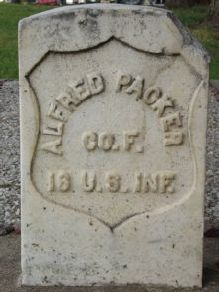 Gravemarker for Civil War veteran, Alfred Packer