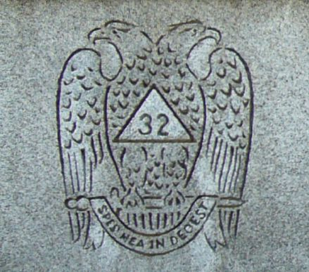 Double-headed eagle - Scottish Rite Freemasonry cemetery symbol
