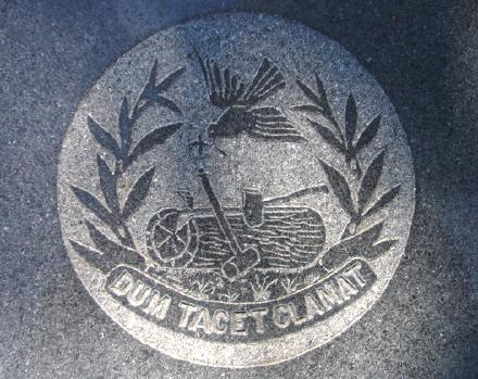 Woodmen of the World cemetery symbol - Dum Tacet Clamat