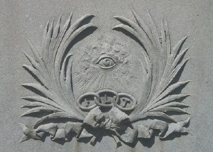 All-seeing eye - Eye of Providence cemetery symbol