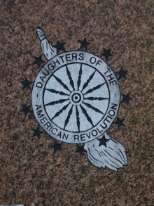Daughters of the American Revolution - DAR - cemetery symbol