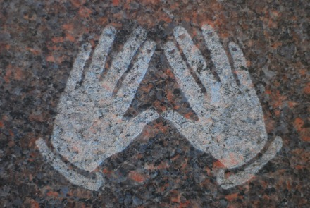 Kohanim or Cohanim Hands - Priestly Blessing cemetery symbol